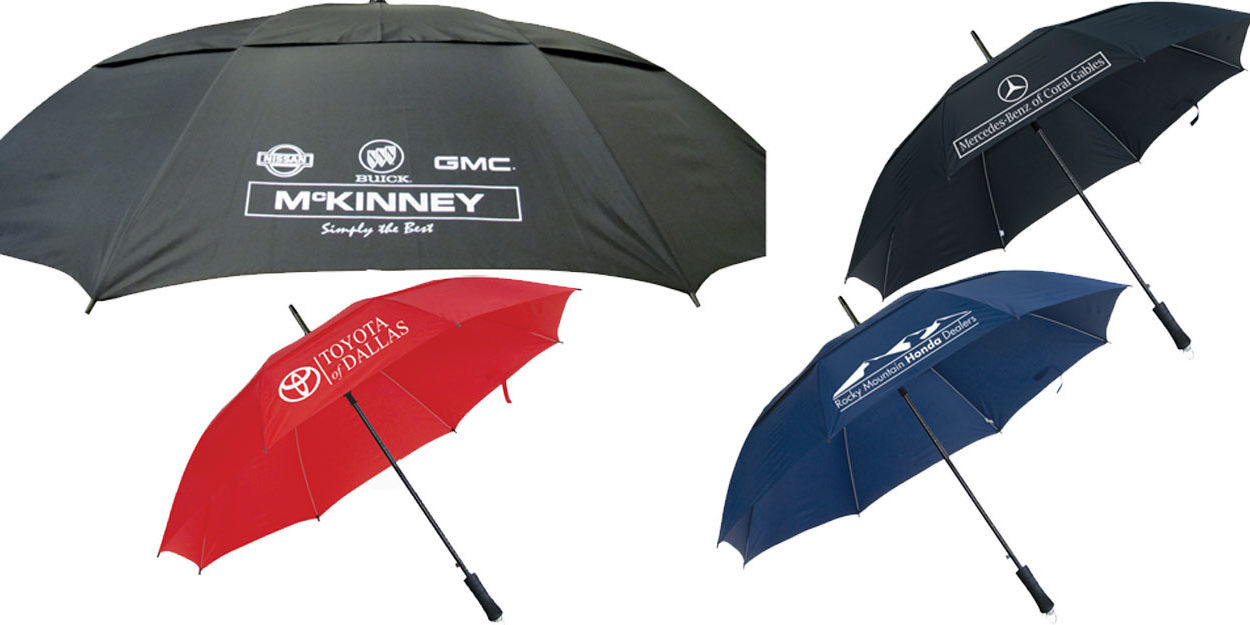 Custom Dealer Imprint Umbrellas